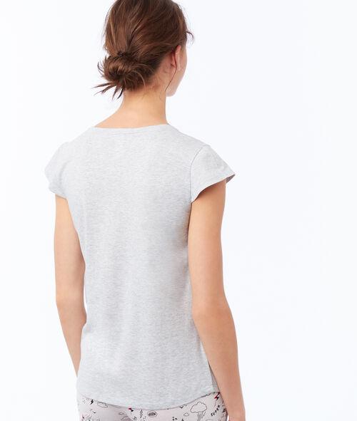 Camiseta manga corta estampado ratón
