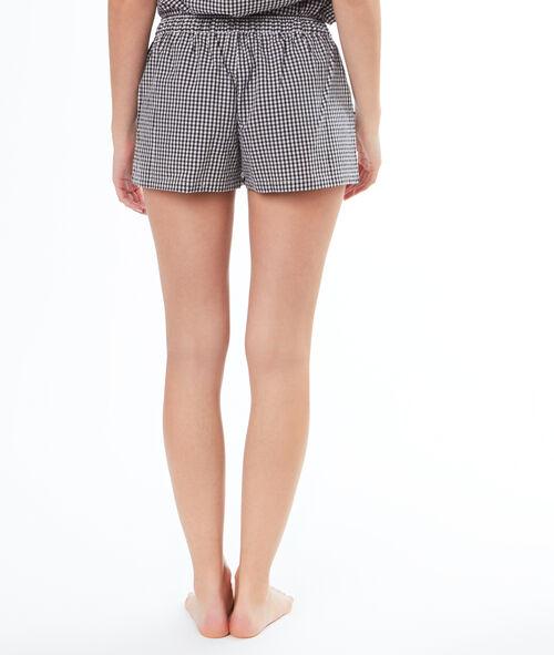 Pantalón corto estampado cuadros Vichy