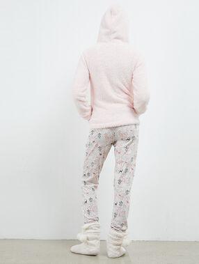 Pijama tres piezas reno rosa.