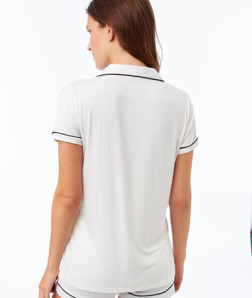 Camisa pijama manga corta de satén