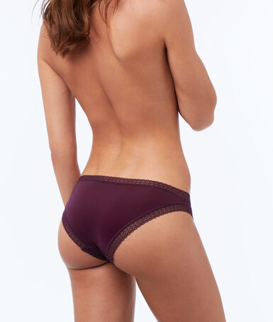 Braguita dos texturas violeta.