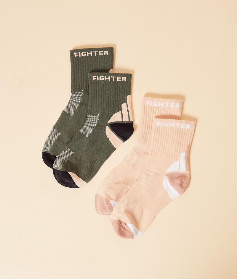 Lote de 2 calcetines deportivos;${refinementColor}