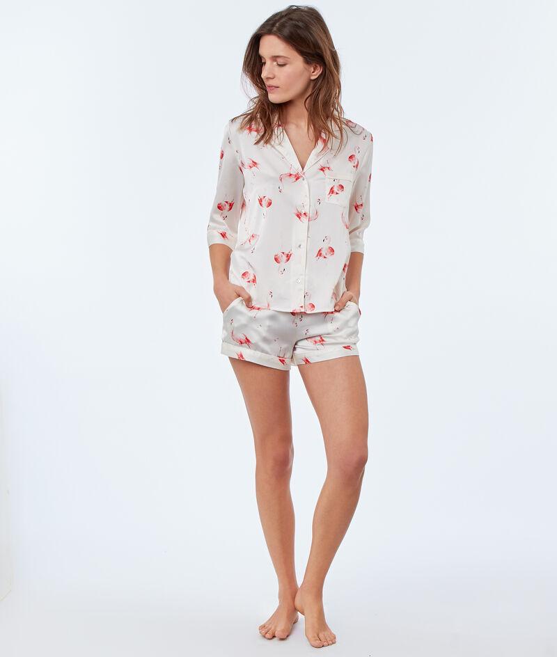 Camisa pijama estampado flamencos;${refinementColor}