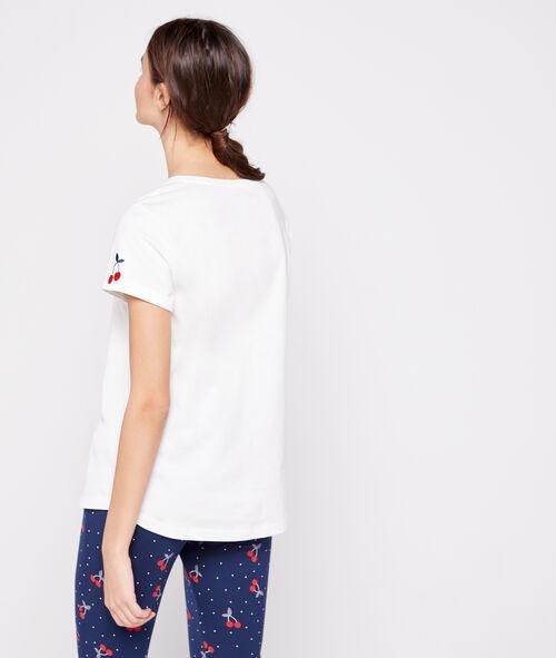 Camiseta de algodón cereza