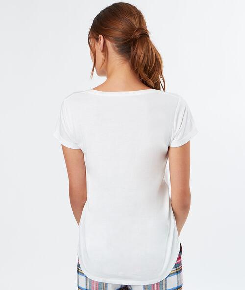 Camiseta manga corta con mensaje