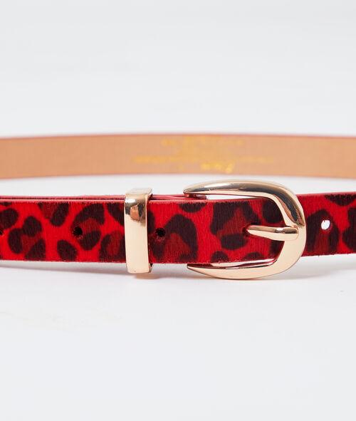 Cinturón estampado leopardo