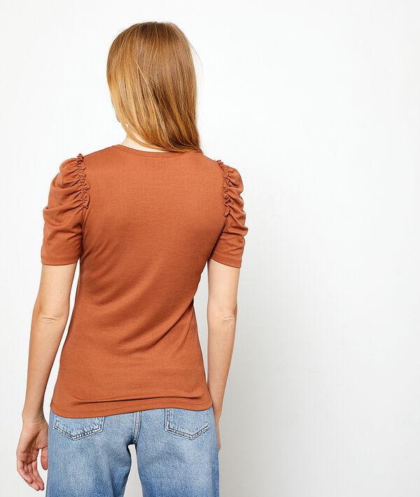 Camiseta mangas drapeadas