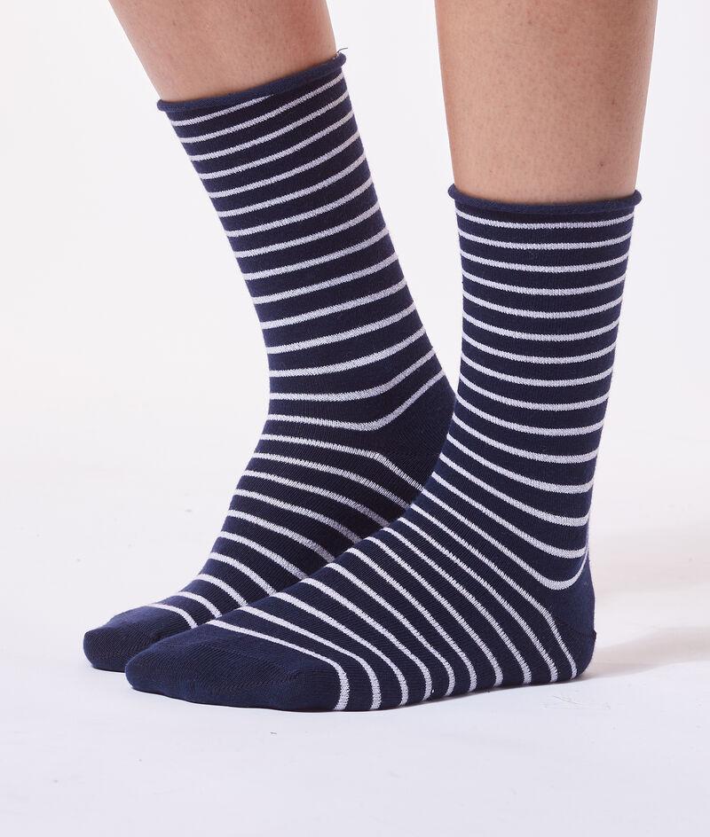 Calcetines estampado de rayas