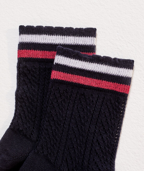 Calcetines dos finas rayas
