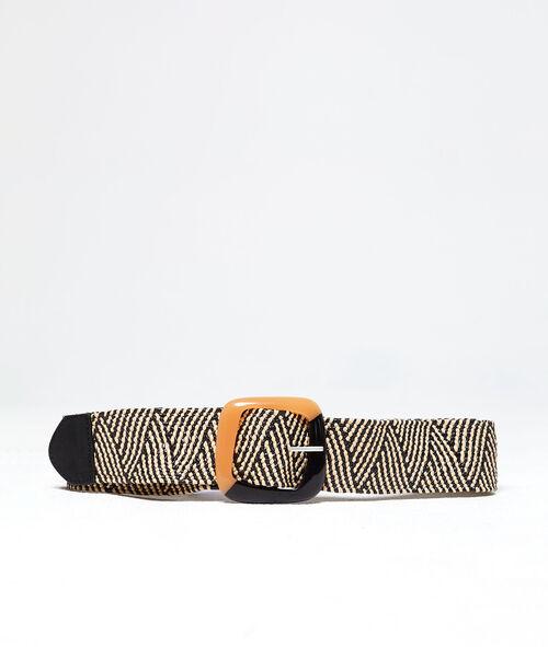 Cinturón ancho trenzado