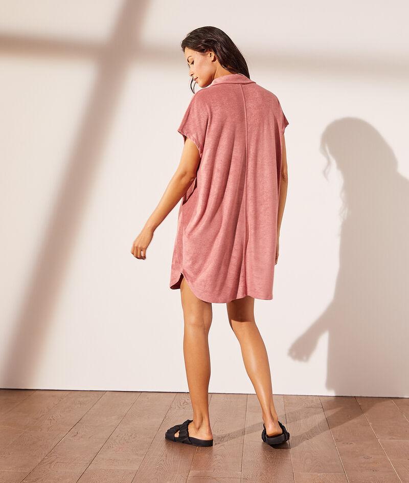 Vestido camisero, tejido esponja