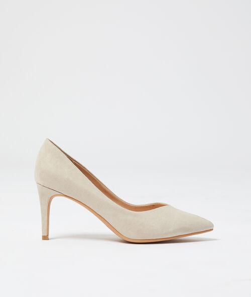 Zapato de tacón efecto ante