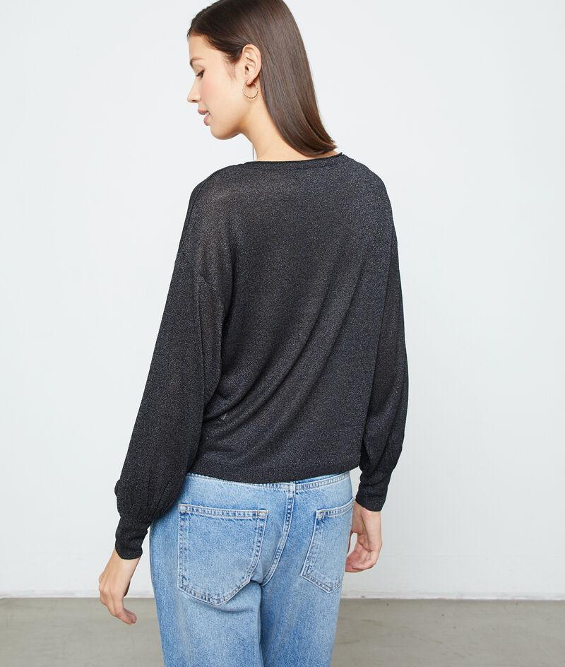 Suéter metalizado de punto fino