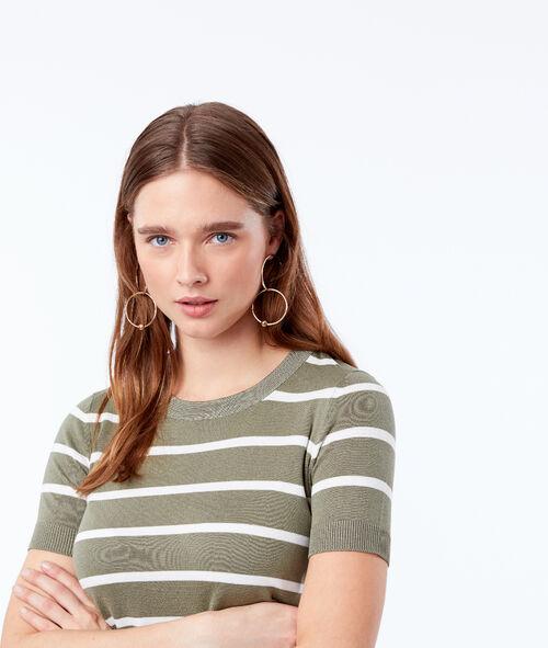 Camiseta de rayas cuello redondo