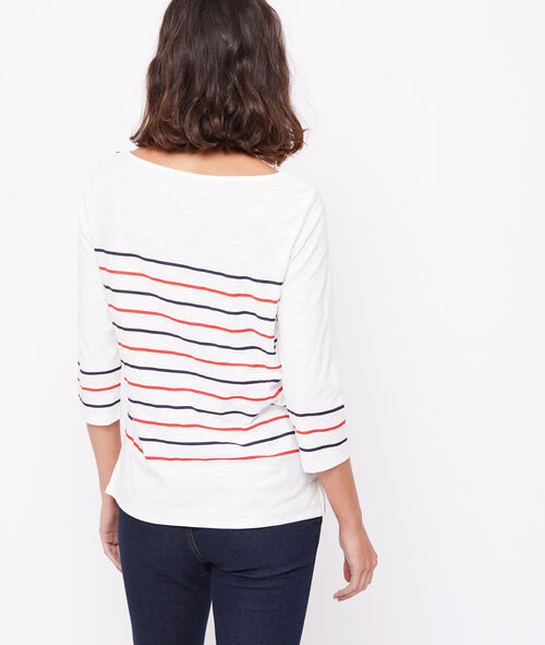 Camiseta marinera 100% algodón bio