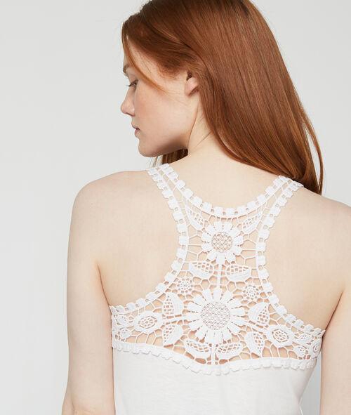 Camiseta espalda encaje floral