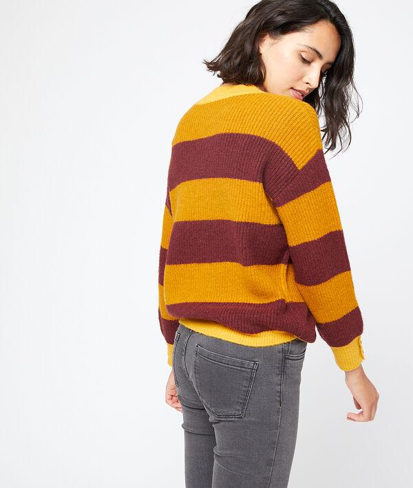 Jersey a rayas de punto grueso
