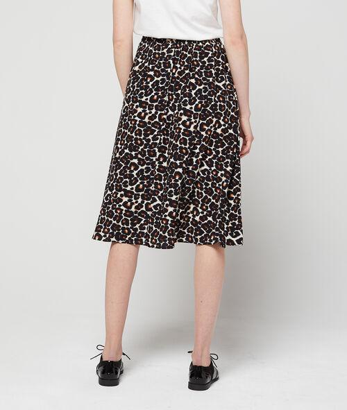 Falda holgada estampado leopardo