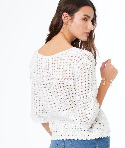 Jersey manga 3/4 tricotado algodón