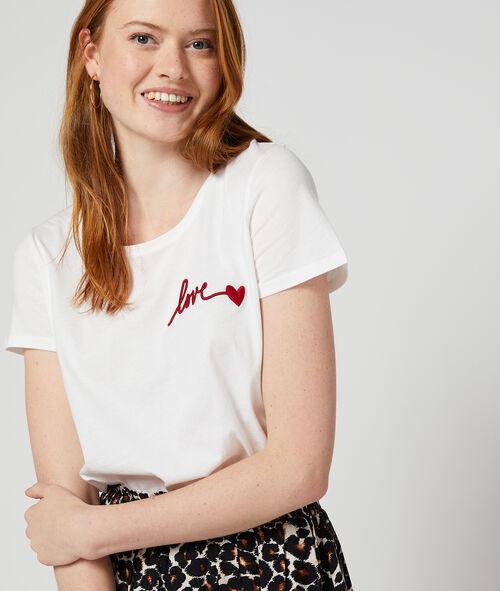 Camiseta bordada 'Love' 100% algodón