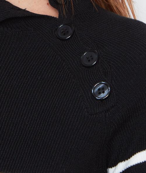 Vestido tipo jersey estampado a rayas