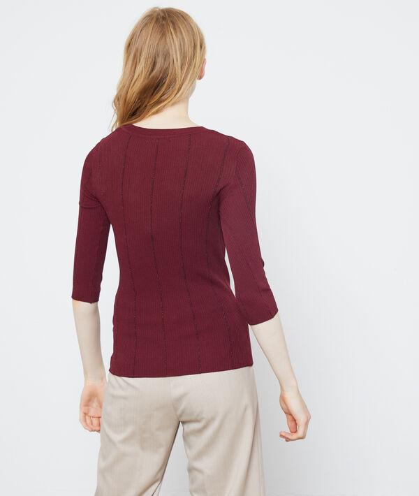 Suéter a rayas hilo metalizado
