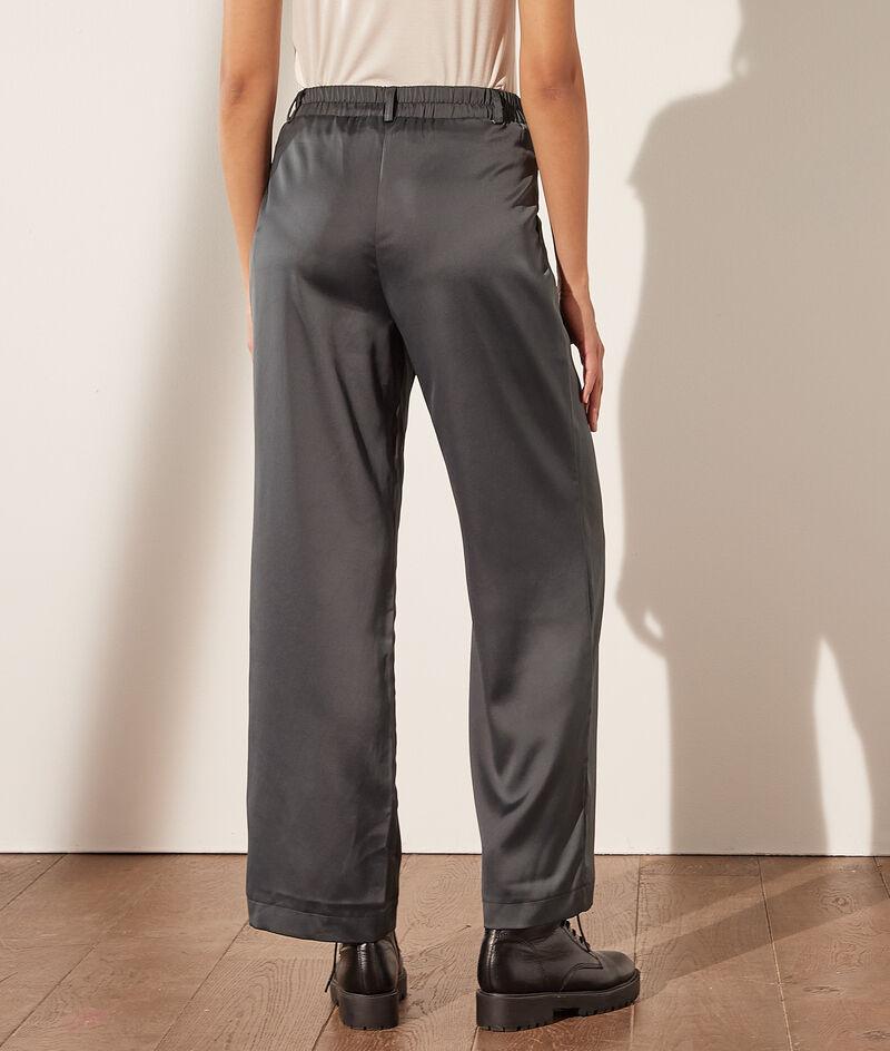 Pantalón ancho satén