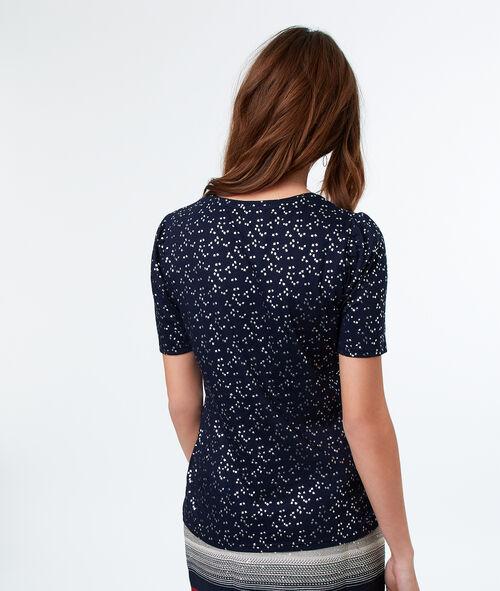 Camiseta escote en V estampada