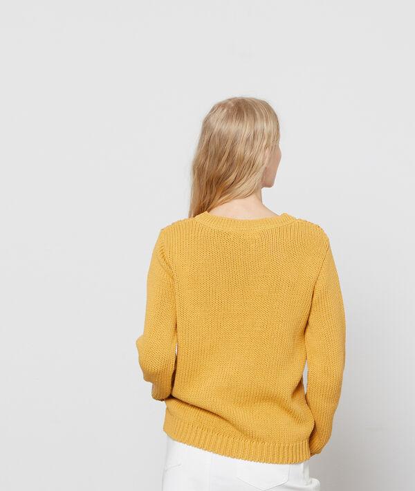 Jersey de punto trenzado 100% algodón