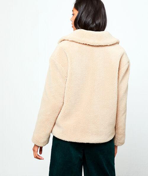 Blouson effet peau lainée