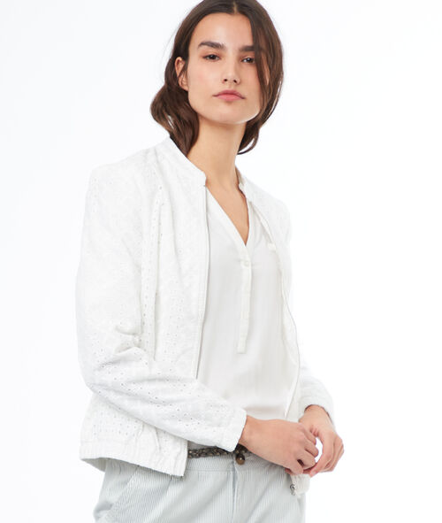 Chaqueta con bordados algodón