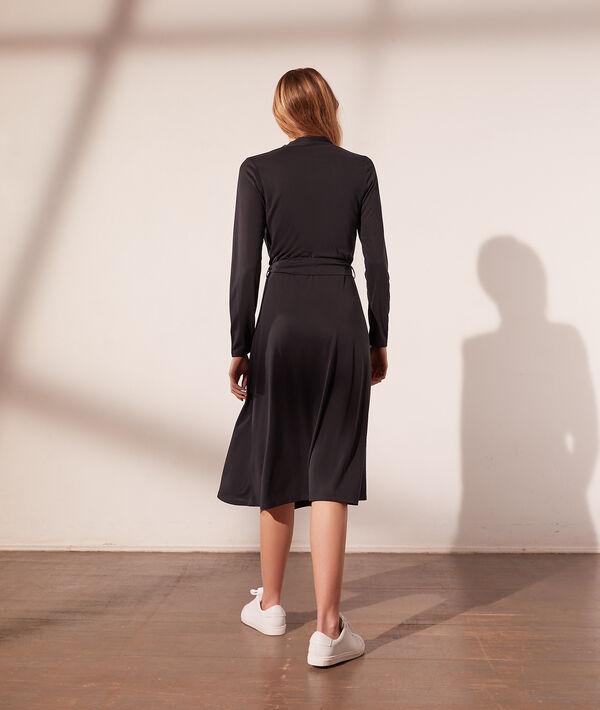 Vestido vaporoso, anudado lateral