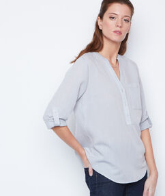 Camisa manga 3/4 escote en v c.gris.