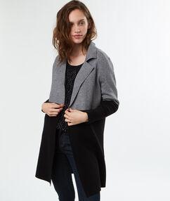 Abrigo de punto bicolor bicolor.