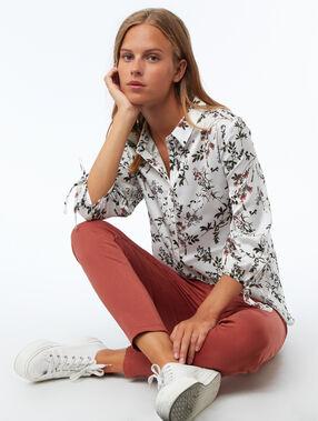Camisa estampado floral crudo.