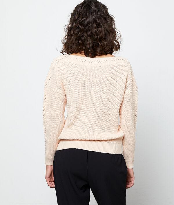 Jersey de mangas caladas