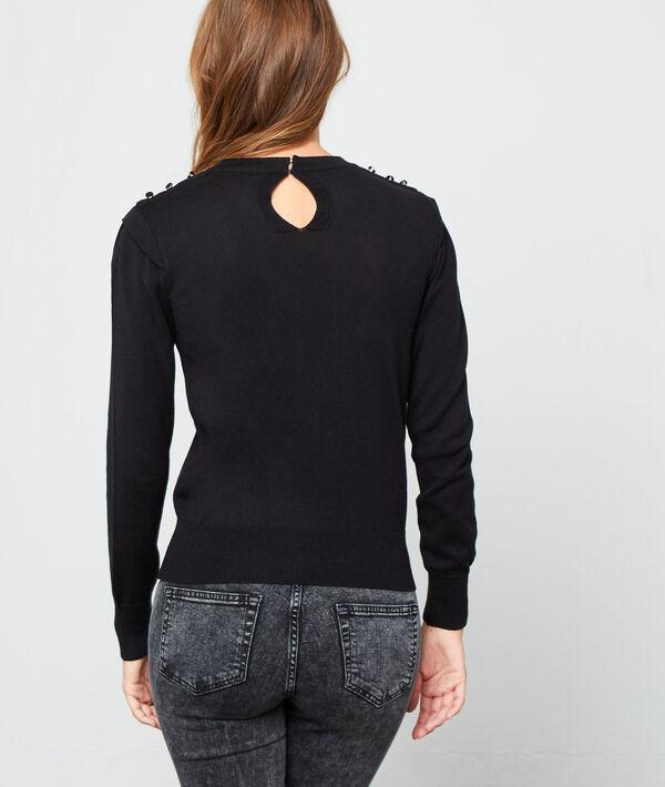 Camiseta escotada efecto transparente