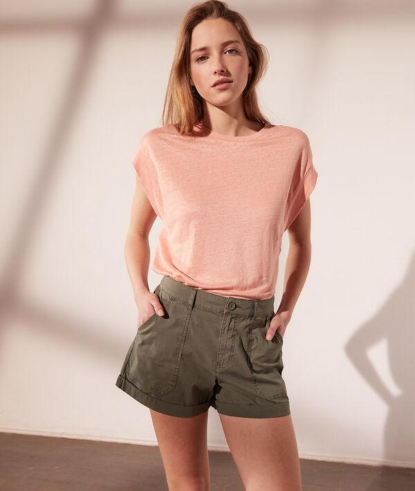 Camiseta manga corta de lino