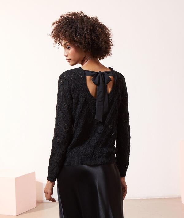 Jersey calado anudado en la espalda