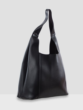 Bolso shopping con monedero integrado negro.