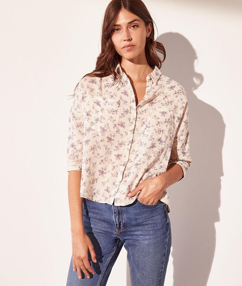 Camisa estampada algodón