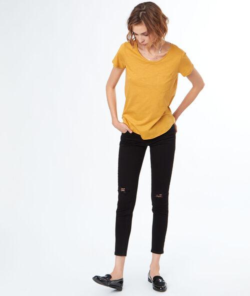 Camiseta algodón cuello redondo