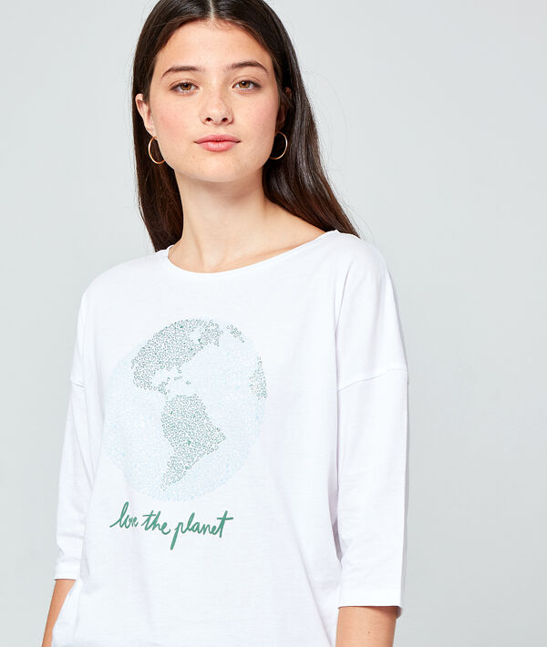 Camiseta 'Love the planet' de algodón bio