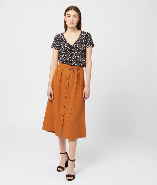 Camiseta estampado de leopardo