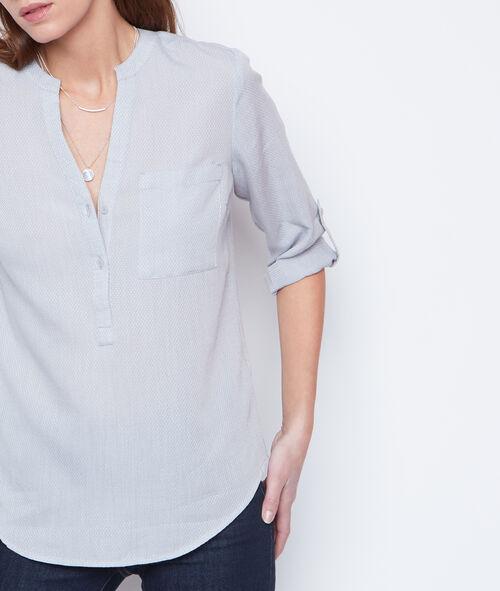 Camisa manga 3/4 escote en V