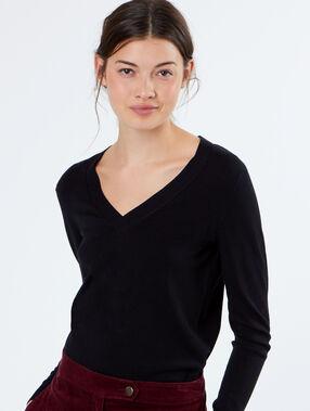 Jersey escote en v negro.