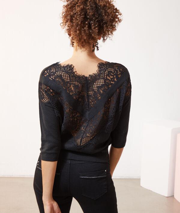 Jersey con encaje en la espalda