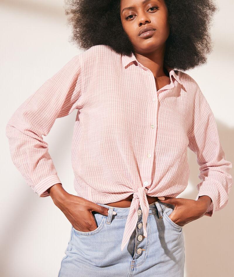 Camisa de finas rayas de algodón