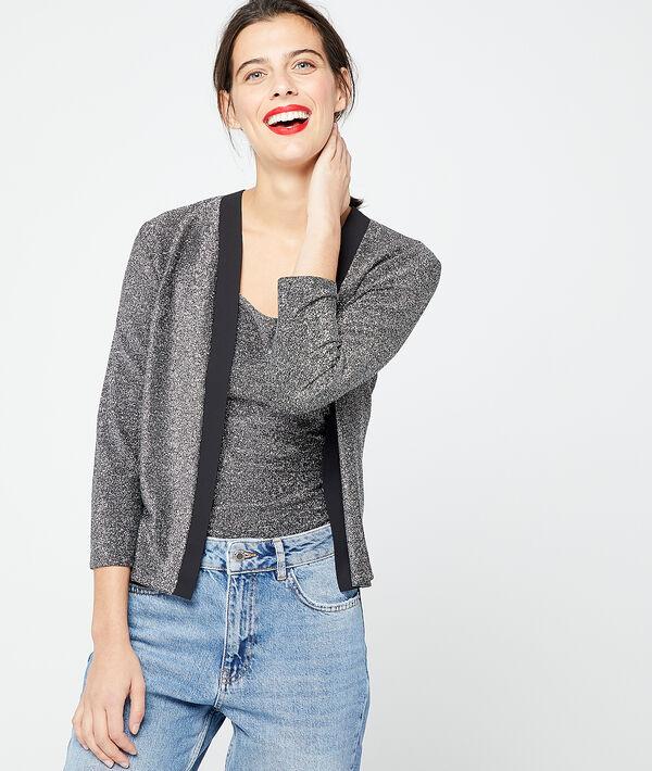 Camiseta suéter plateada