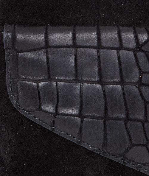 Pochette en croûte de cuir